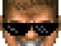 DoomGuy Mémé Glasses Mod