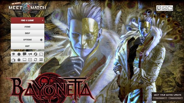 Bayonetta Sound Music and Main Menu Character