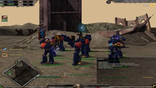 Space Marines in Mark VI Armor