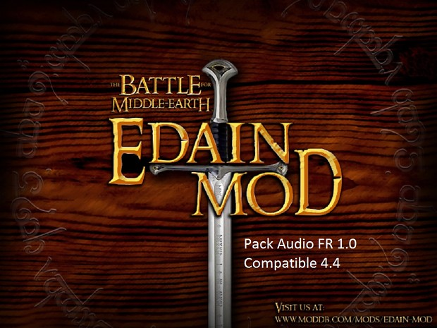 Pack Audio FR Edain Mod 4.4.1
