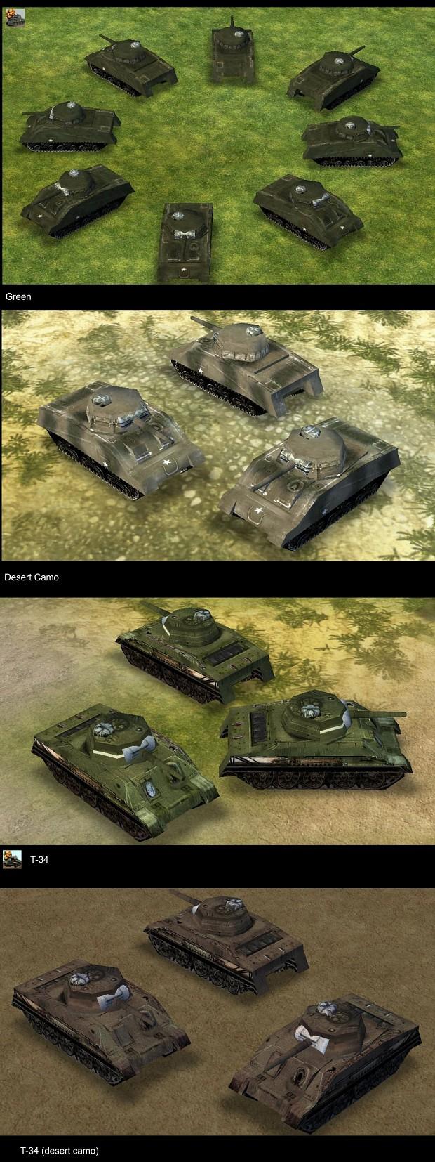 New Skins for Sherman Tank