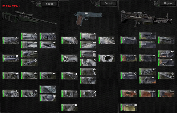 Full weapon upgrades for Arsenal Overhaul V1.1 Out
