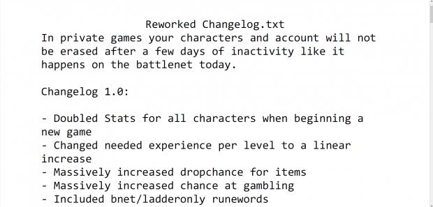 Reworked Changelog