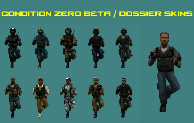 Condition Zero Dossier Skins pack V2