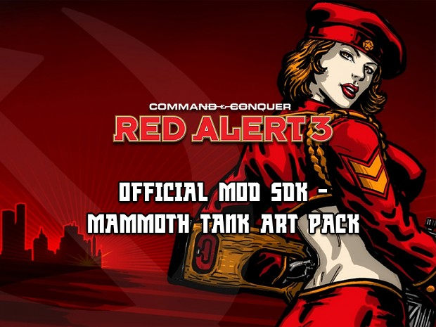 C&C: Red Alert 3 Mammoth Tank Art Source Pack