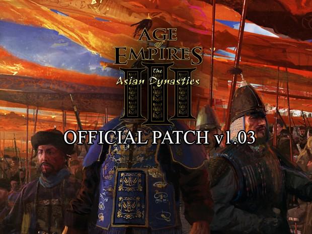 AoE III: The Asian Dynasties v1 03 German Patch file - Mod DB