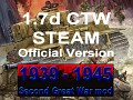1939-1945 Second Great War 1.7d CTW STEAM