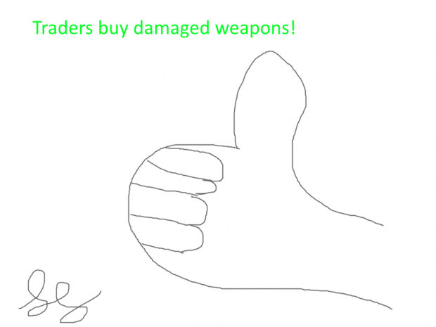 Traders buy damaged weapons AO3 [1.4.10]