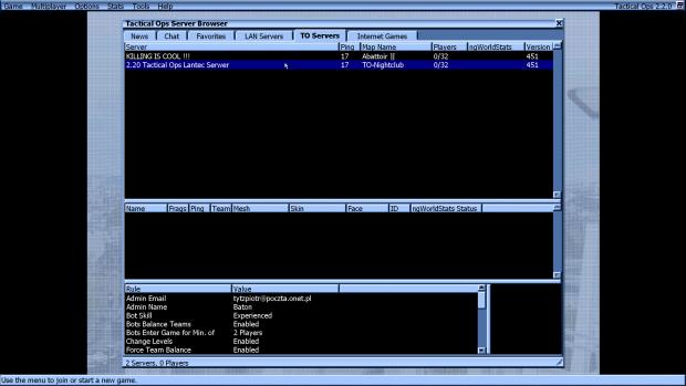 Tactical Ops v2.2.0 Fix For Masterserver