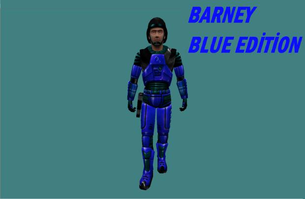 Barney blue suit