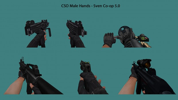 CSO Male Hands - Sven Co-op 5.0 Weapons
