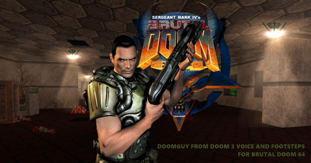 Doomguy from DooM 3 voice and footsteps (BD64)