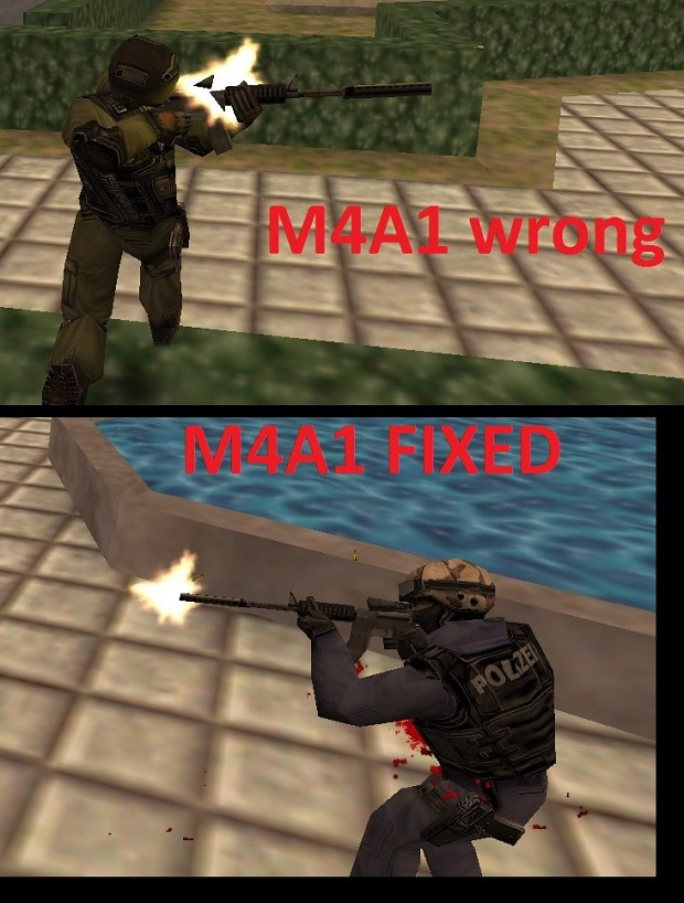 Fixed muzzle flashes