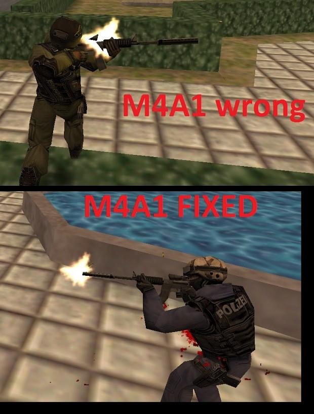 Fixed muzzle flashes