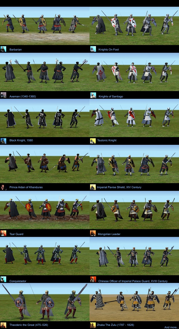 Longsword Man Skin Pack 2