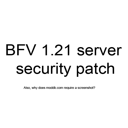 BFV 1.21 Linux server security patch