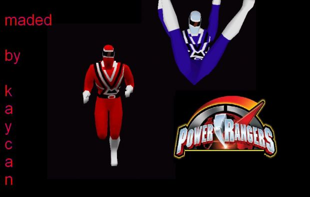 Power Rangers Alpha Models :Red and Blue Rangers