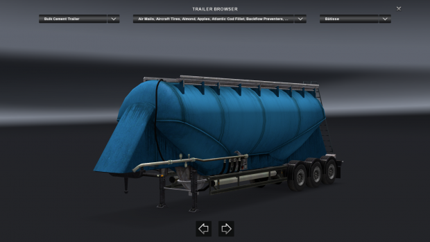 APL Blue Cement Trailer