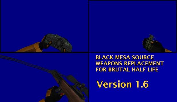 Black Mesa Weapons Pack for BHL V1.6 (BETA 1 only)