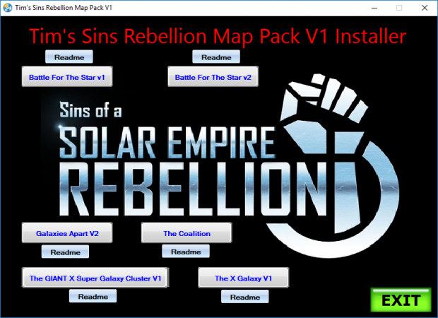 Tim's Sins Rebellion Map Pack V1