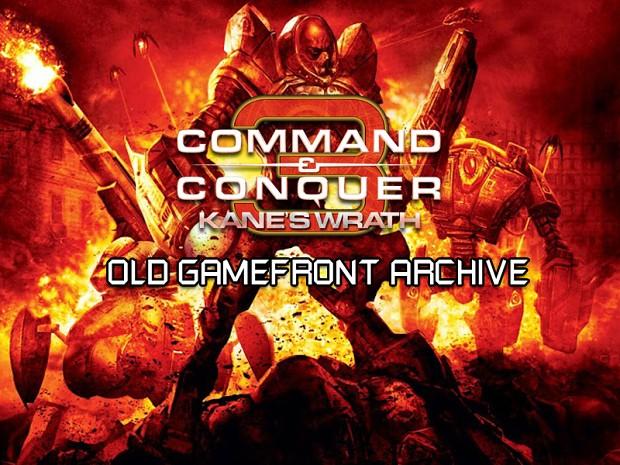 C&C 3 Kane's Wrath GameFront Archive