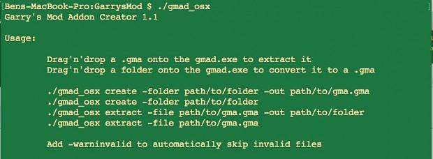 Gmad - Easy Addon Extractor - OSX - MacOS - Mac