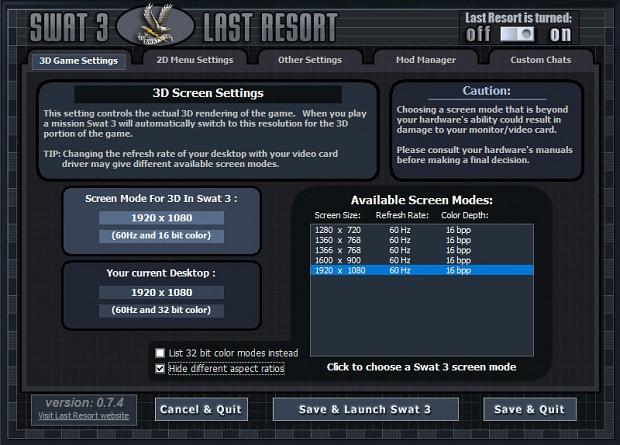 Last Resort v0.7.4