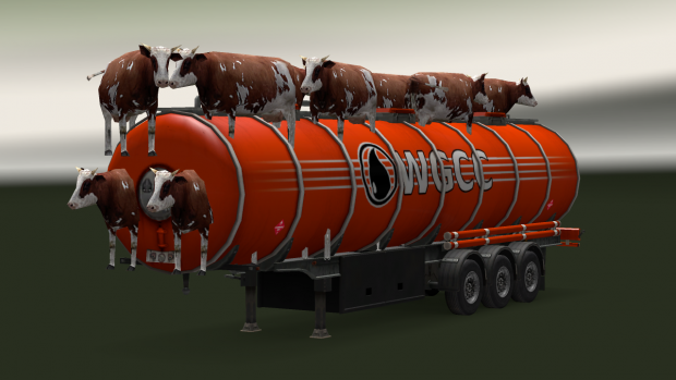 Tanker with Cows