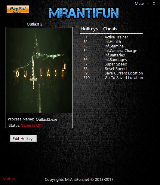 Outlast 2 V1 00 Trainer +7 file - Mod DB