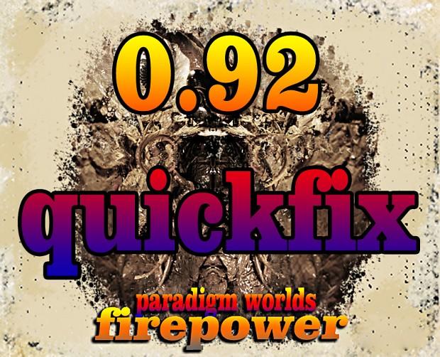 PARADIGM WORLDS quickfix 0.92 FIREPOWER Quickfix