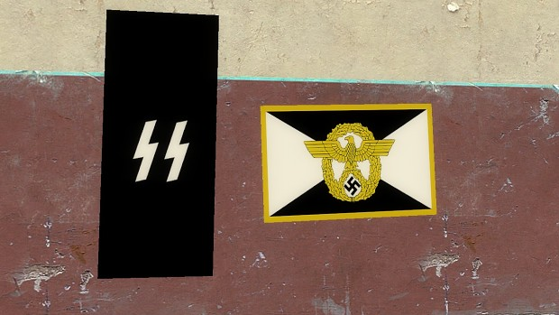 Nazi SS and police Flags
