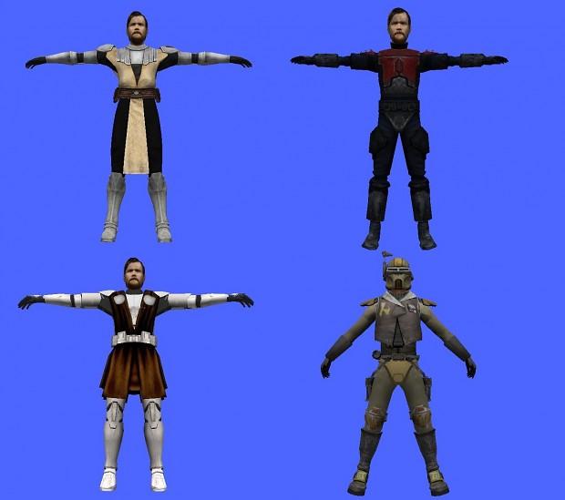 Obi Wan alternative costume asset Pack