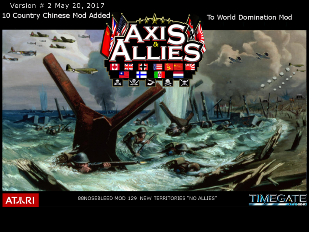 Axis & Allies RTS 10 country Chinese Mod V # 2