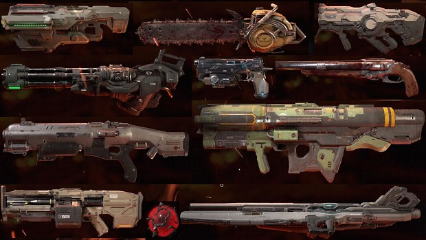 DOOM 2016 Weapon Sprites By EpicLibo V2