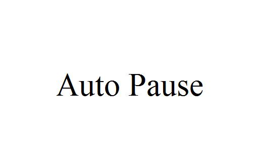 AutoPause