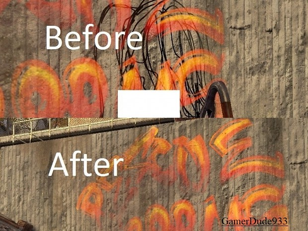 """Censored graffiti decals"" for CMA Demo \ CMA"