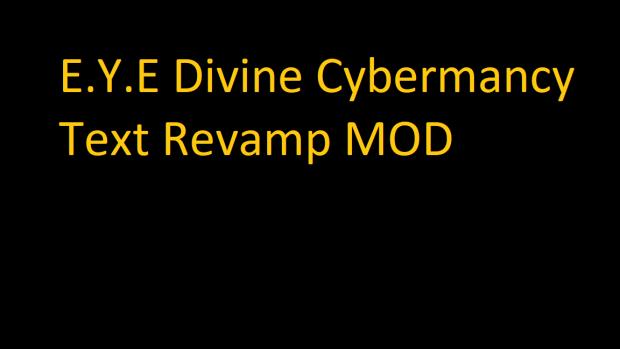 EYE Text Revamp Mod v1.3