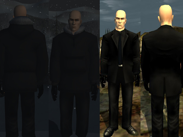 Black suit/No barcode/Hitman Contracts Face tex