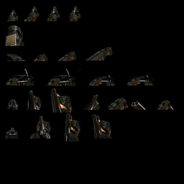Doom Slayer's hands on Original Doom weapons