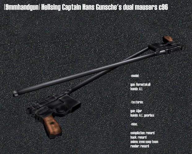 Hellsing Captain Hans Gunsche's dual mausers c96