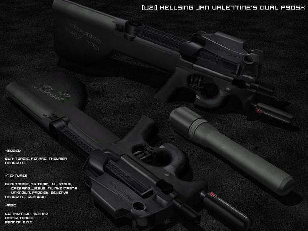 Hellsing Jan Valentine's dual P90sx