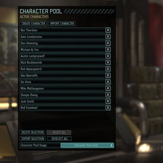 NL's XCOM WotC Custom Character Pool