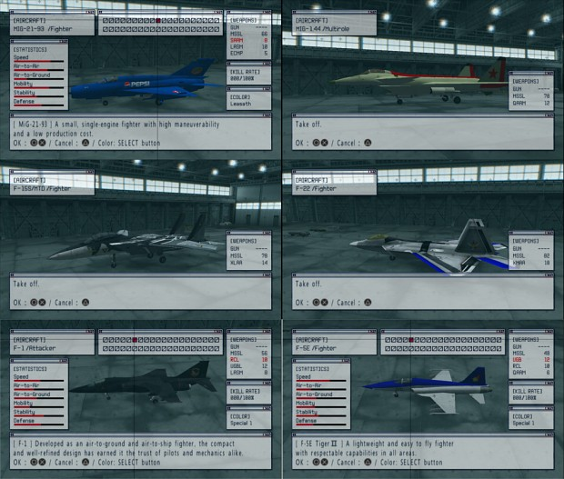 Ace Combat Complimation Pack
