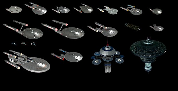 Polaris Sector Star Trek TOS Federation ships