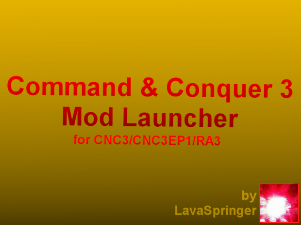 CNC3/RA3 Mod Launcher(Command line Version)