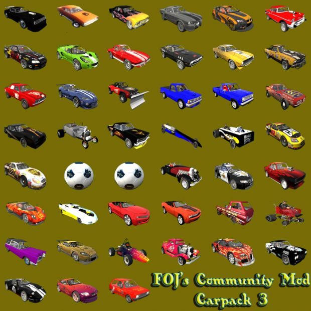 Carpack 3 for FOJ Community Mod
