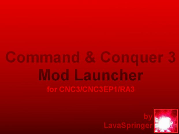 CNC3/RA3 Mod Launcher(GUI Version)