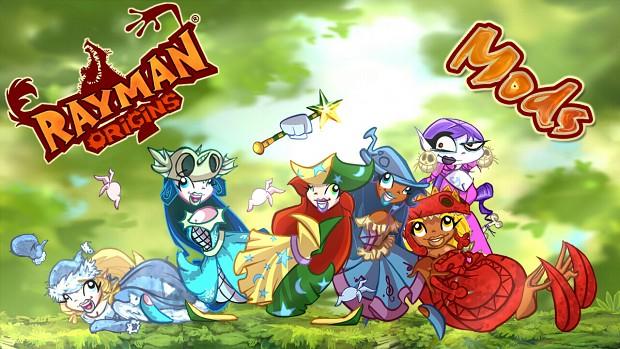 Rayman Origins Playable Nymph Mods