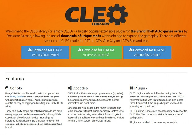 CLEO library v2.0.0.5 by Seemann for GTA III