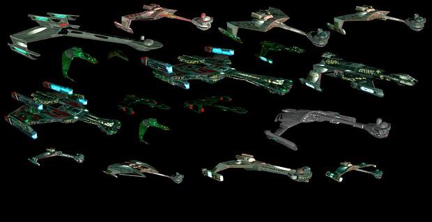 Polaris Sector Star Trek TMP Klingon ships